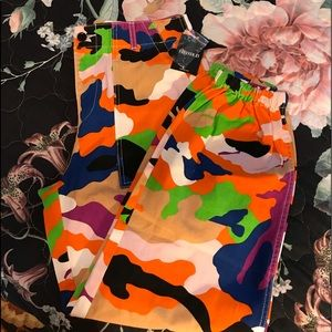Multi color camouflage joggers